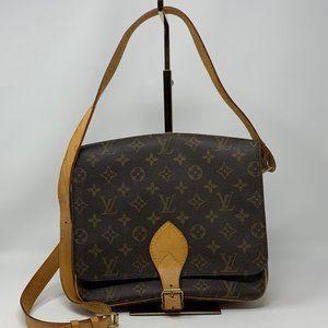 Louis Vuitton Cartouchiere Handbag Monogram Canvas